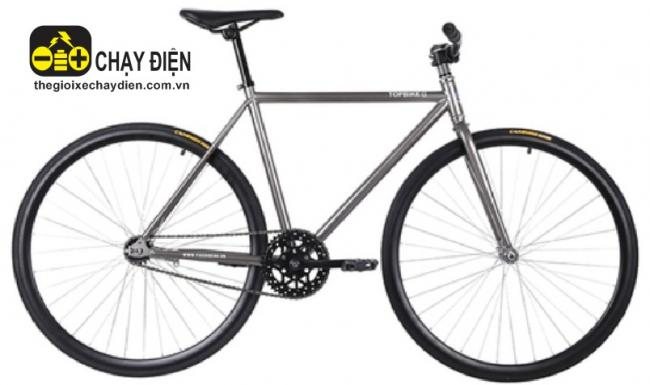 Xe dap Fixed Gear Topbike Alpha Xám